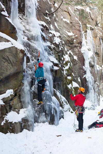 Rock Climbing Photo: Jess's first ice climb, New Year's Day 2013