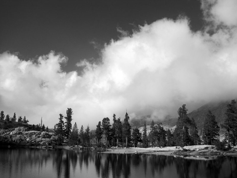 Pear Lake on a cloudy early evening.