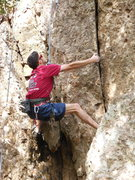 "Rock Climbing Photo: working up the crack near the start of ""Wonde..."