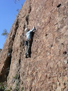 "Rock Climbing Photo: Ron leading ""Morning Glory."""