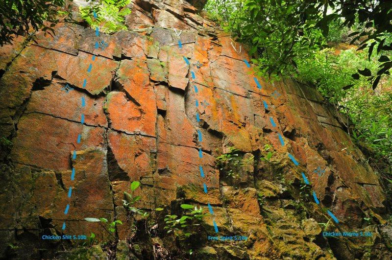 Rock Climbing Photo: Chicken Shit wall Dairy Farm quarry, Singapore