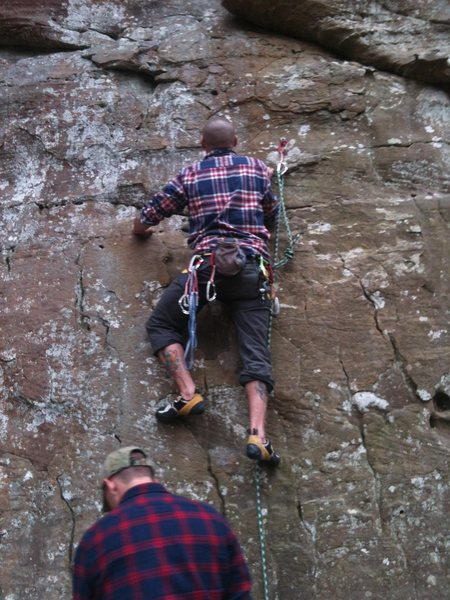Rock Climbing Photo: The wall that shattered my knee!