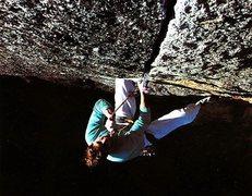 Rock Climbing Photo: Paul Parker on the Alien Roof (5.12b), Yosemite Va...