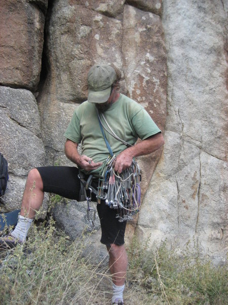 Rock Climbing Photo: This guy Jim Beyer rope soloed a bunch of routes i...