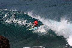 Rock Climbing Photo: My friend Buzzy Kerbox @ Honalua Bay