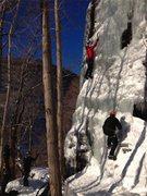 Rock Climbing Photo: Climbers on the Sun Wall. Early January, 2013.