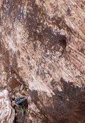 Rock Climbing Photo: Matt starting on Mac and Ronnie in Cheese