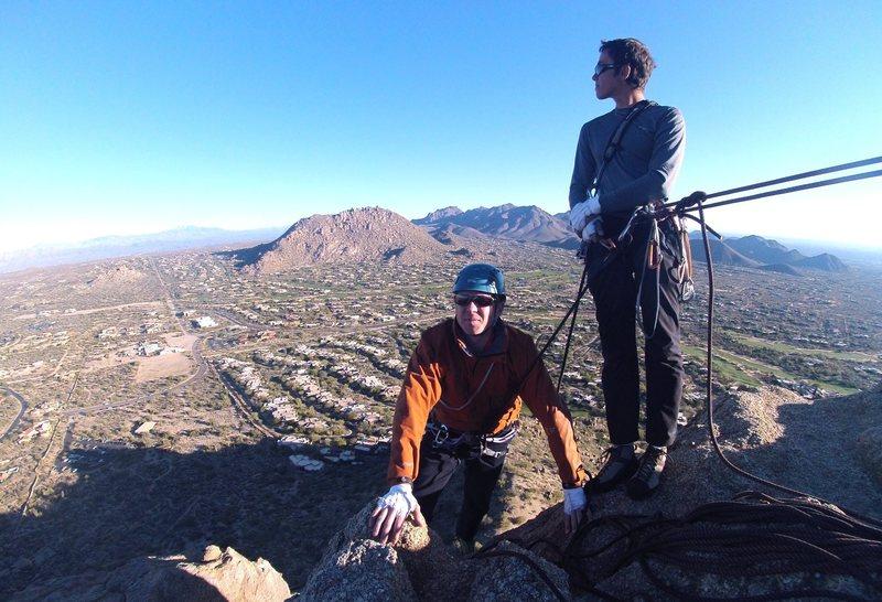 "Rock Climbing Photo: Summit of Pinnacle Peak, AZ - ""Classic Climbi..."