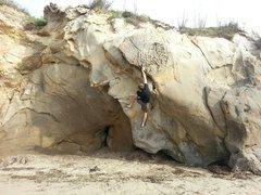 Rock Climbing Photo: sending Not Even