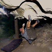 Rock Climbing Photo: The Bat Cave , Flagstaff, AZ , V2 **