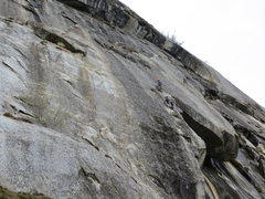 Rock Climbing Photo: Eye of the Lyger a fun 10b crack route a bit left ...