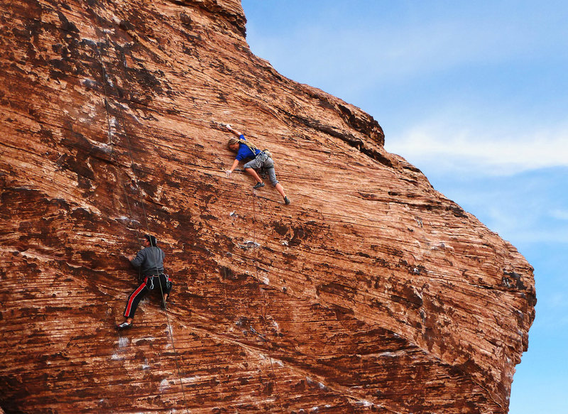Rock Climbing Photo: Save the Heart to Eat later (right), Baseboy (left...