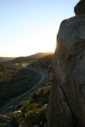 Rock Climbing Photo: John Daniels leading an unknown line we call Psych...