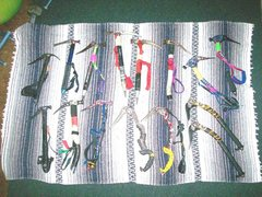 Rock Climbing Photo: A collection of ice tools, several generations old...