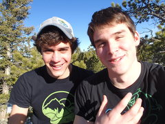 Rock Climbing Photo: Chillin during a hike in Ward, CO with my buddy (I...