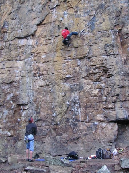 Rock Climbing Photo: West side of the Crime Buttress, Foster Falls, TN....