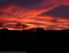 Rock Climbing Photo: Crazy winter sunset with the massif of Céüse in ...