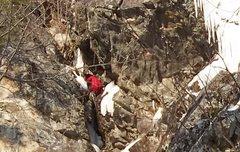 Rock Climbing Photo: Ryan has entered the narrows.