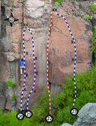 Rock Climbing Photo: Climber is on Bridge Troll