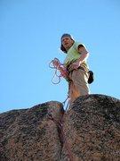 Rock Climbing Photo: At the top of Edgeucator (5.11a), Keller Peak