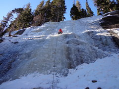 Rock Climbing Photo: Leading at Overflow, RMNP 1/5/13