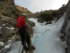 "Rock Climbing Photo: Belay at top of P3, ""Three Tiers"" Ten Mi..."