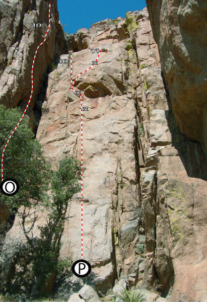 Rock Climbing Photo: Routes at the Fin (which I called Elverum Cove in ...