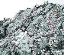 Rock Climbing Photo: J. Best Bitters 9 K. Five Easy Steps 5 L. Hangover...