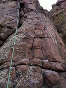 Rock Climbing Photo: This is the most runout section. That first bolt i...