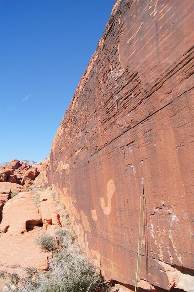 Rock Climbing Photo: The J Wall with its namesake letter clearly visibl...