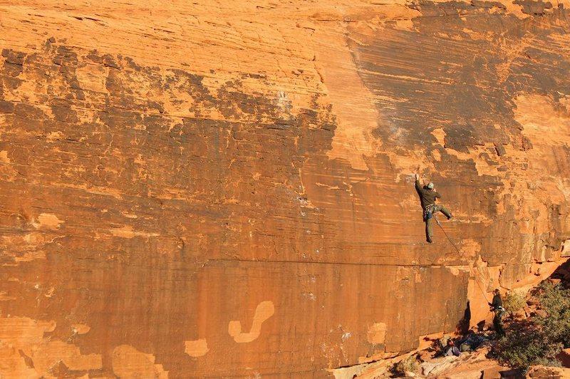 Rock Climbing Photo: Climber on the lower section of Killer Joe