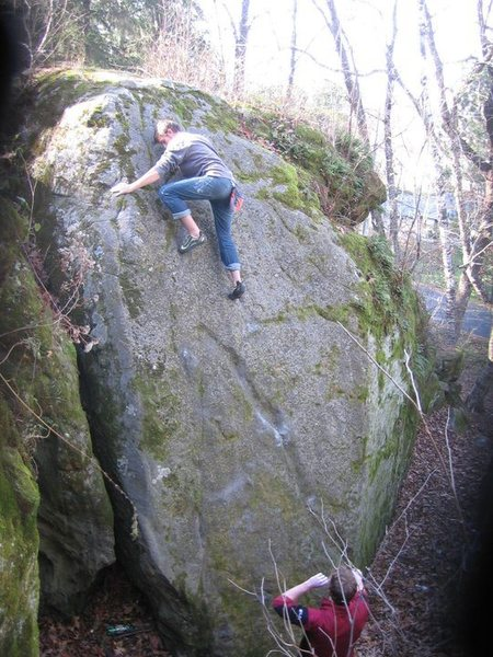 Jack near the top of the slab