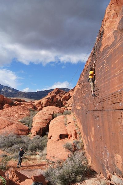 Rock Climbing Photo: TR lap on The J Wall