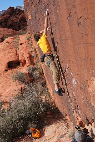 Rock Climbing Photo: The boulder problem start