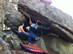 Rock Climbing Photo: Pulling first move