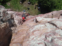 Rock Climbing Photo: Blue mounds State park MN