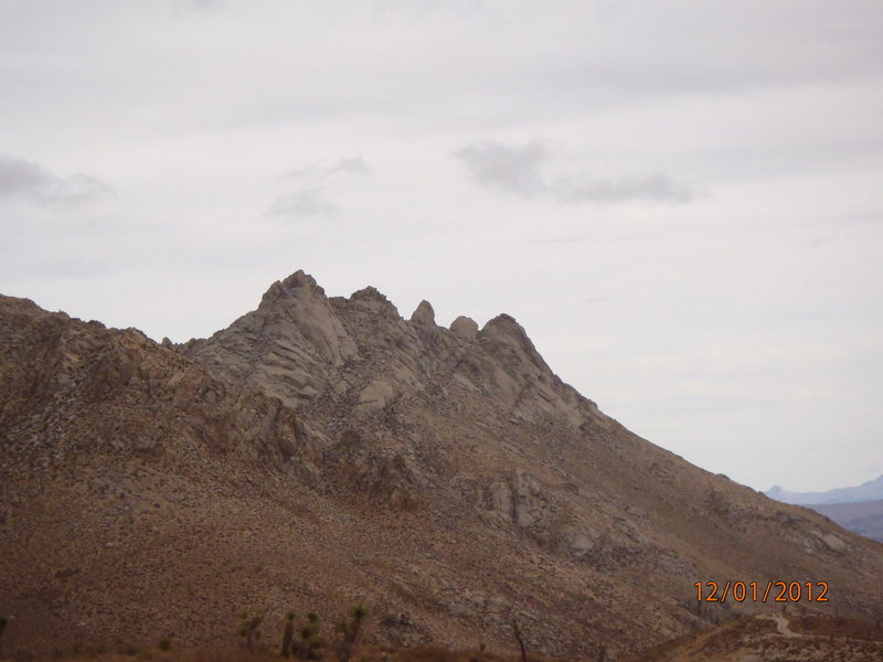 Rock Climbing Photo: The Five Fingers looking East from the road to Owe...