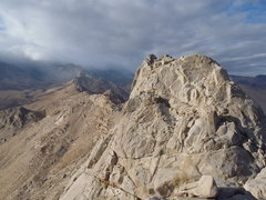 Rock Climbing Photo: Aquila Peak from the Fourth Finger, looking northw...