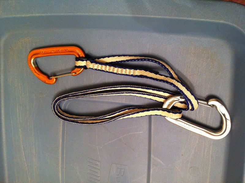 Rock Climbing Photo: Unclipping the rope side biner from the sling to e...