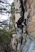 Rock Climbing Photo: Davids Castle Wall  Sadistic Rhythm (5.10-) trad  ...