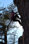 Rock Climbing Photo: Red Wall  Erica Lineberry leads Silence The Critic...