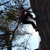 Red Wall<br> <br> Erica Lineberry leads<br> Silence The Critics (5.12) sport<br> <br> Crowders Mountain State Park, North Carolina<br>