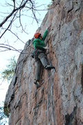 Rock Climbing Photo: Red Wall  Steve Lineberry redpoints Desperately Se...