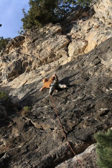 Rock Climbing Photo: That route to the right of Land Speed Record.   Ha...