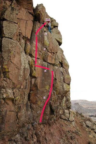 Rock Climbing Photo: This is the route I take when I climb this. Yes, t...