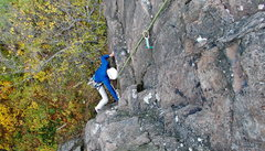 Rock Climbing Photo: Ritwik pulling through the crux