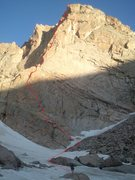 Rock Climbing Photo: Left of Left showing the original start up the low...