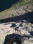 Rock Climbing Photo: Steeper climbing as we got higher up.