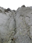 Rock Climbing Photo: The crux pitch cracks on the right side of the pho...