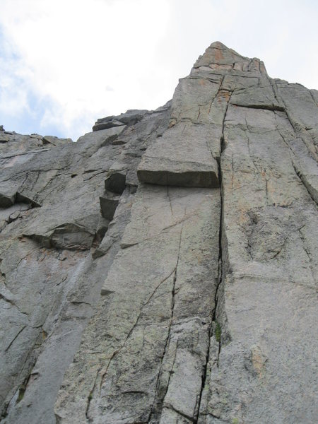 Rock Climbing Photo: The Highrise Buttress up close showing the possibl...